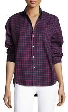 Frank And Eileen Eileen Check Button-Front Cotton Shirt