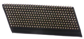 Saint Laurent Studded Diagonale Clutch - BLACK - STYLE