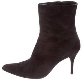 CNC Costume National Suede Ankle Boots