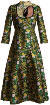 Erdem Geneva Rose-jacquard dress