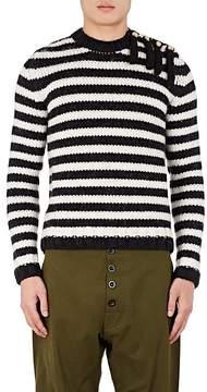 Loewe Men's Fringe Striped Wool-Alpaca Sweater