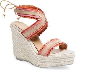 Manebi Women's Espadrille Leather Wedge Sandal