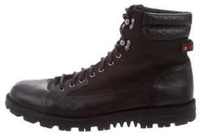 Gucci Guccissima Web-Trimmed Boots