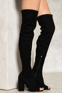 Nasty Gal Take Me Higher Over-the-Knee Boot