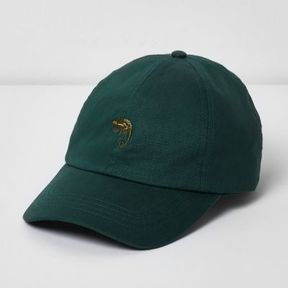 River Island Mens Green chameleon baseball cap