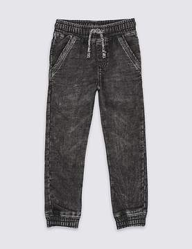 Marks and Spencer Cotton Rich Cuffed Jeans (3 Months - 5 Years)