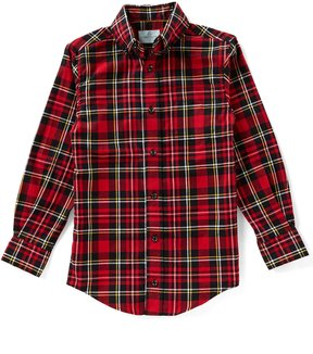 Class Club Little Boys 2T-7 Plaid Button-Down Long-Sleeve Shirt