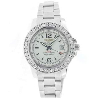 Breitling Colt Lady A77383 Stainless Steel Diamond Bezel Watch