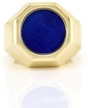 Tiffany & Co. 18k Yellow Gold Lapis Mens Ring Size 8.25