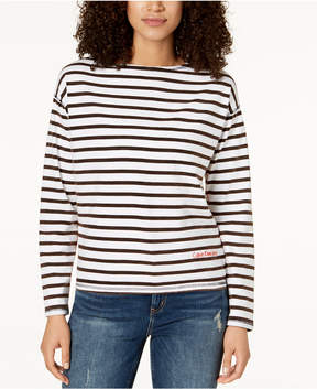 Calvin Klein Jeans Cotton Distressed Striped T-Shirt
