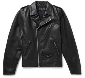 Beams Leather Biker Jacket