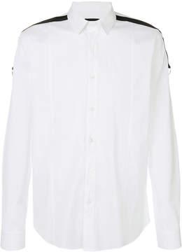 Les Hommes shoulder stripe shirt