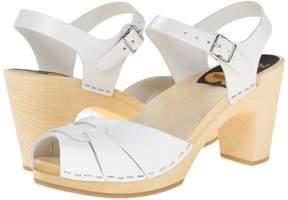 Swedish Hasbeens Peep Toe Super High Women's Sandals