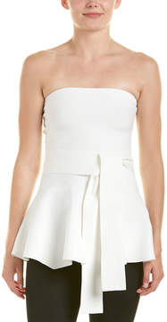 C/Meo Collective Perfect Timing Strapless Peplum Knit Top