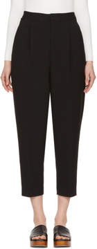 Enfold Black Tuck Cropped Trousers