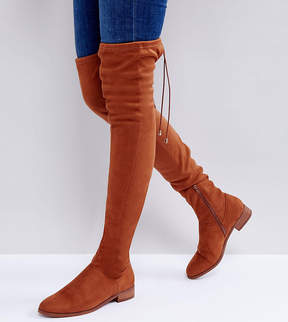Asos KEEP UP Flat Over The Knee Boots
