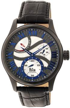 Reign Bhutan Leather-band Automatic Watch.