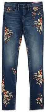 Blank NYC BLANKNYC Girls' Floral Embroidered Skinny Jeans - Big Kid