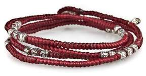 M. Cohen Knotted Wrap Bracelet in Red