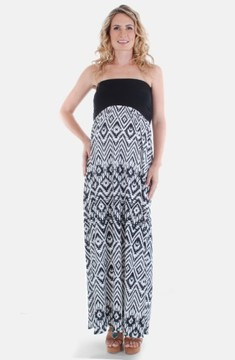 Everly Grey Women's 'Grace' Strapless Maternity Dress