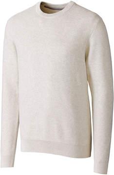 Cutter & Buck White Long-Sleeve Crewneck Sweater - Men