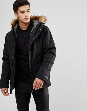 Esprit Parka With Faux Fur Hood