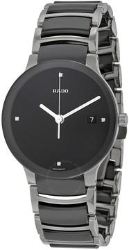 Rado Centrix Quartz Black Dial Black Ceramic Unisex Watch