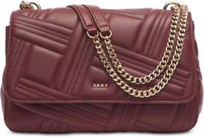 DKNY Allen Leather Flap Shoulder Bag