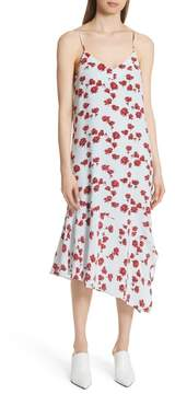 Equipment Jada Floral Print Silk Slipdress