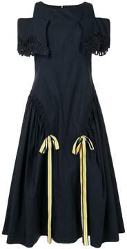 Fendi off-shoulder flared dress