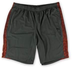 Puma Mens Formstripe 10' Athletic Workout Shorts Grey 2XL