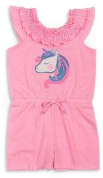 Little Lass Little Girl's Unicorn Romper