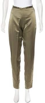Carmen Marc Valvo High-Rise Straight-Leg Pants w/ Tags