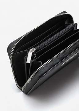 MANGO Zip pebbled wallet