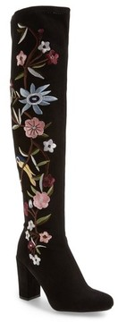 Mia Women's Serena Floral Embroidery Over The Knee Boot