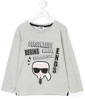 Karl Lagerfeld long-sleeve Karlito T-shirt