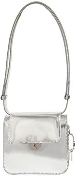 Small Metallic Leather Shoulder Bag