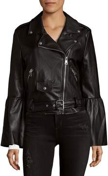 Bagatelle Women's Notch Collar Moto Jacket