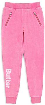 Butter Shoes Girls' Mineral-Wash Fleece Joggers - Big Kid