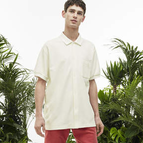 Lacoste Men's Fashion Show Terrycloth Buttoned Polo Shirt