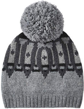 Joe Fresh Women's Metallic Fair Isle Knit Hat, Charcoal Mix (Size O/S)