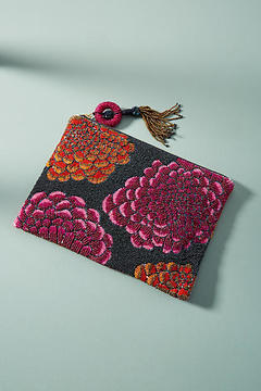 Anthropologie Primula Beaded Pouch