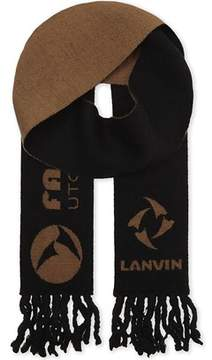 Lanvin Men's Black Wool Scarf.