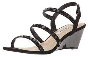 Nina Womens Naleigh Fabric Open Toe Special Occasion Slingback Sandals.