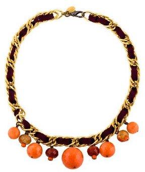 Erickson Beamon Agate & Dyed Quartzite Collar Necklace