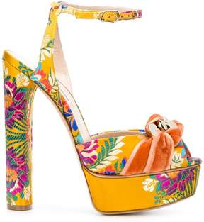 Casadei floral embroidered sandals