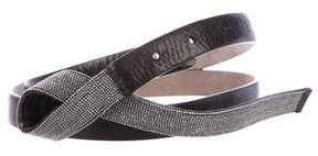 Brunello Cucinelli Monili Leather Belt
