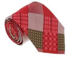 Missoni U5328 Red/brown Graphic 100% Silk Tie.