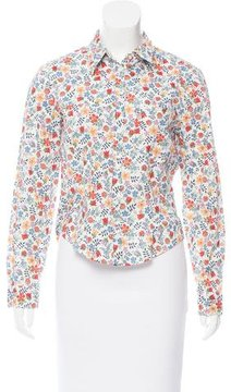Cacharel Floral Print Button-Up Top