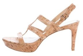 Via Spiga Cork Slingback Sandals